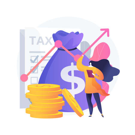 Taxable income abstract concept vector illustration. Ilustrace