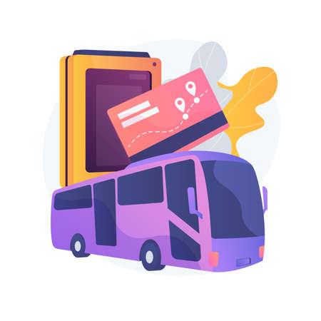 Public transport travel pass card abstract concept vector illustration. Çizim