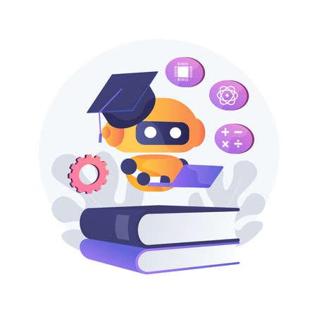 Chatbot self learning abstract concept vector illustration. Illusztráció