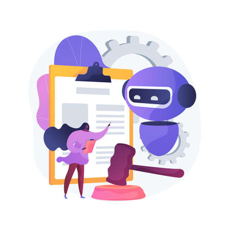 Artificial intelligence regulations abstract concept vector illustration.