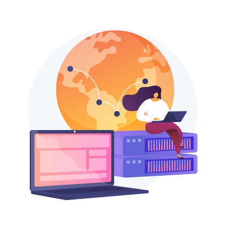 Proxy server abstract concept vector illustration. 向量圖像