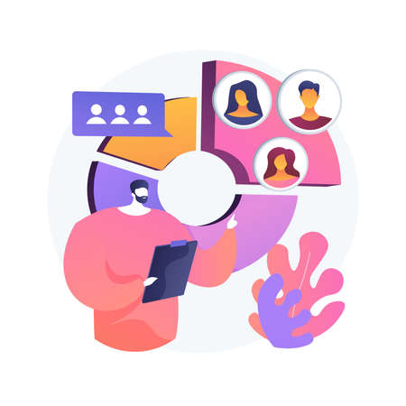 Audience segmentation abstract concept vector illustration. 向量圖像