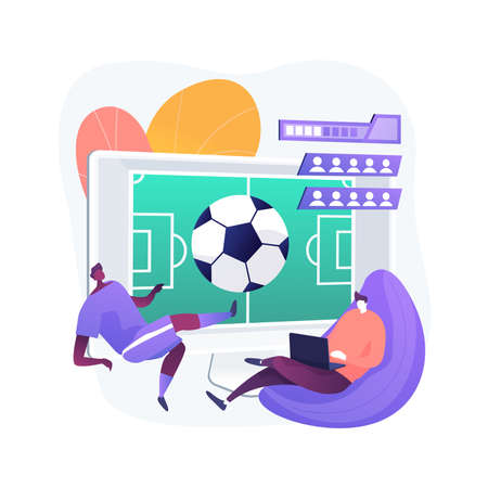 Sports games abstract concept vector illustration.