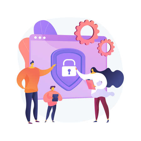 Parental control software abstract concept vector illustration.