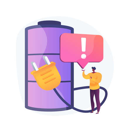 Safety battery abstract concept vector illustration.