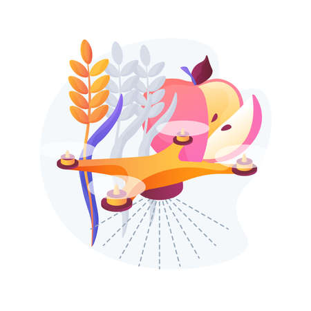 Agriculture drone use abstract concept vector illustration.