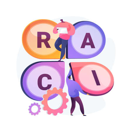 RACI matrix abstract concept vector illustration.