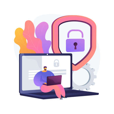 Data privacy abstract concept vector illustration.