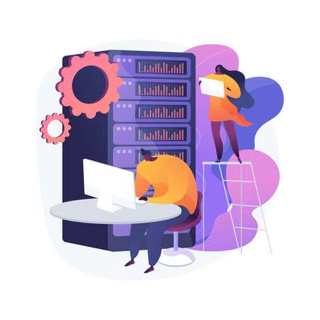 Big data storage abstract concept vector illustration. Vettoriali