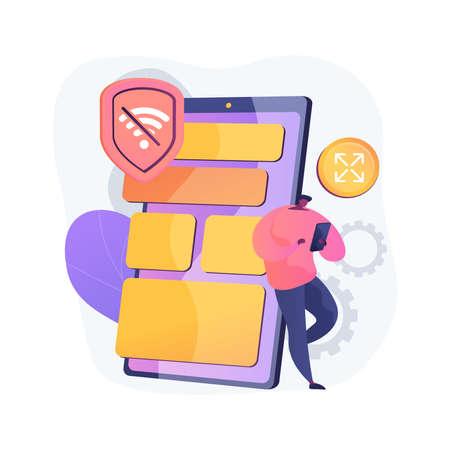Progressive web app abstract concept vector illustration.