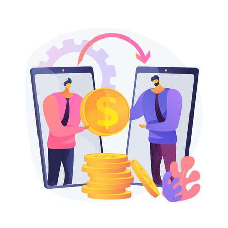 Money transfer abstract concept vector illustration.