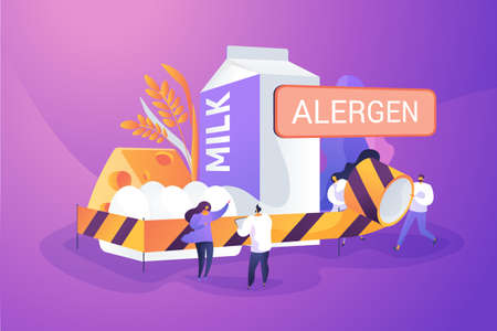 Food allergy concept vector illustration 矢量图像