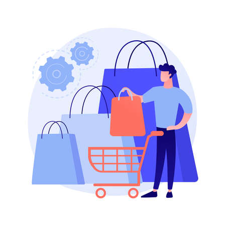 Purchasing habits abstract concept vector illustration.