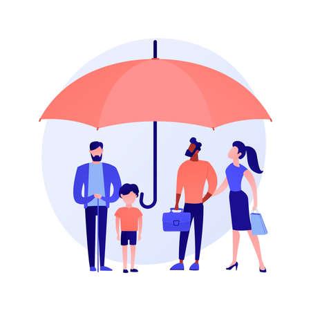 Consumer protection abstract concept vector illustration. Vektorgrafik