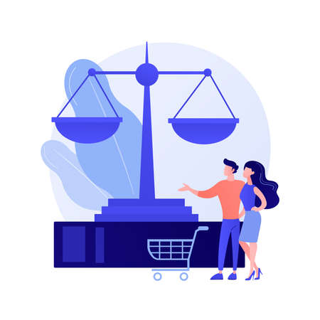 Consumer law abstract concept vector illustration.