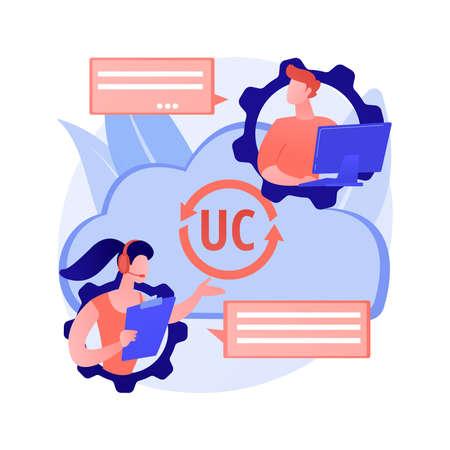 Unified communication abstract concept vector illustration. Ilustração Vetorial