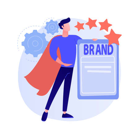 Personal branding abstract concept vector illustration.
