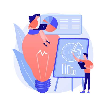 Competitive intelligence abstract concept vector illustration. Illusztráció