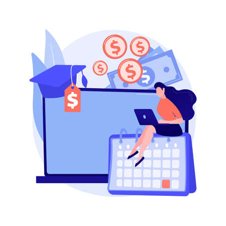 Student loan payments deferred abstract concept vector illustration.