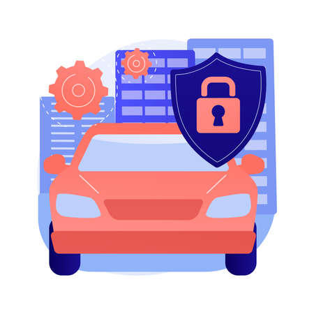 Car alarm system abstract concept vector illustration.