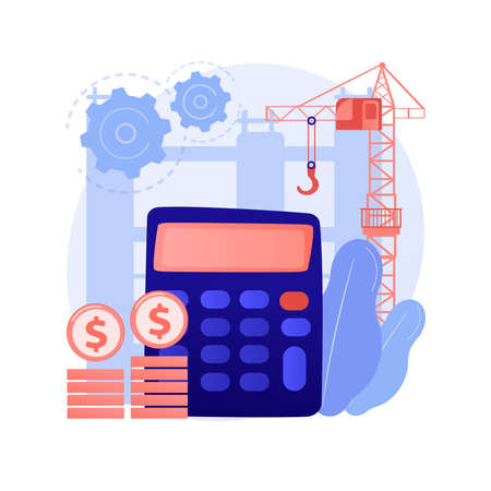 Construction costs abstract concept vector illustration.