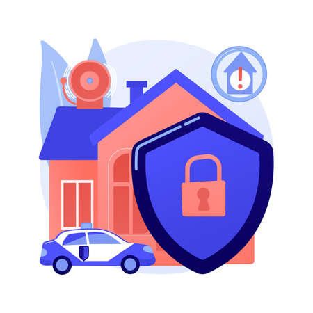 Security systems design abstract concept vector illustration.