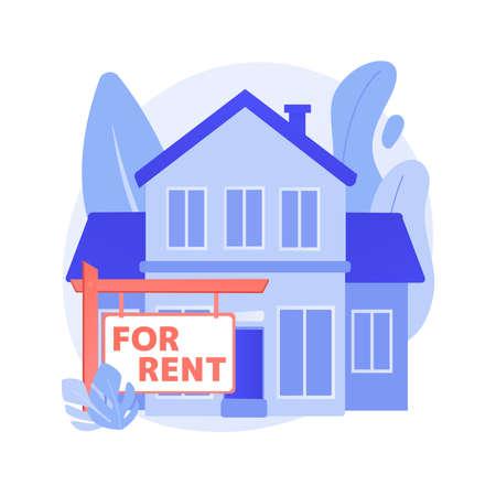 House for rent abstract concept vector illustration. Ilustração