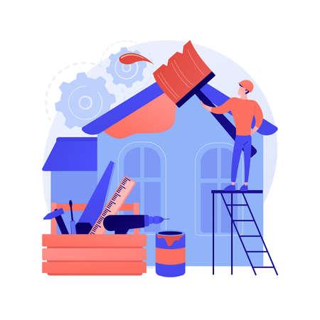 House renovation abstract concept vector illustration. Ilustração