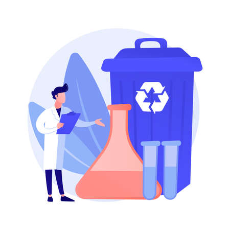 Chemical recycling abstract concept vector illustration.
