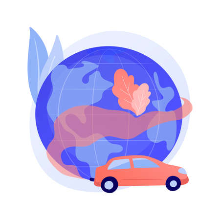 Motor vehicle pollution abstract concept vector illustration.