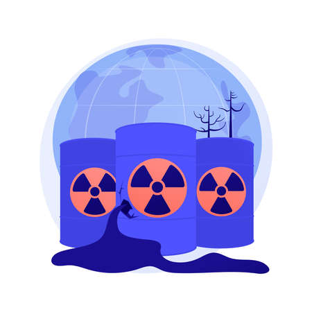 Radioactive pollution abstract concept vector illustration. Ilustrace