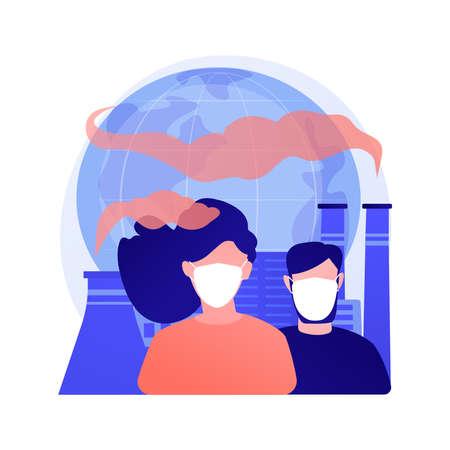 Air pollution abstract concept vector illustration. 矢量图像