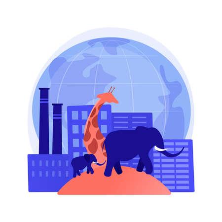 Habitat loss for wild animals abstract concept vector illustration. 向量圖像
