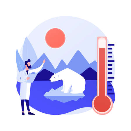Climate change abstract concept vector illustration.