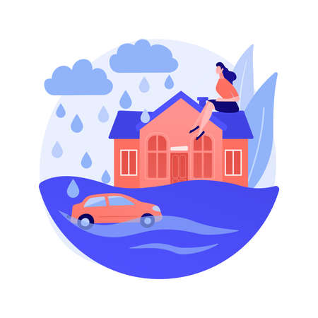 Flood abstract concept vector illustration. 向量圖像