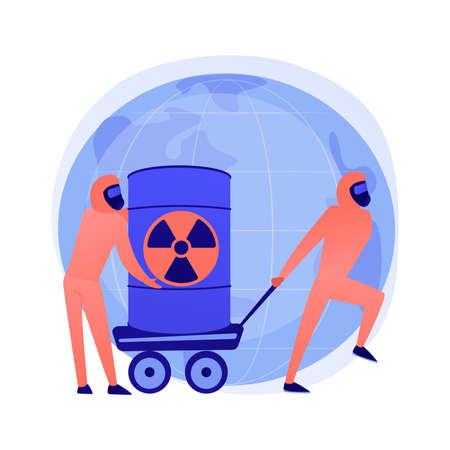 Toxic waste vector concept metaphor