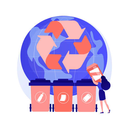 Waste sorting vector concept metaphor