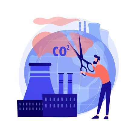 CO2 emission vector concept metaphor