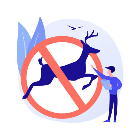 Hunting regulations abstract concept vector illustration.
