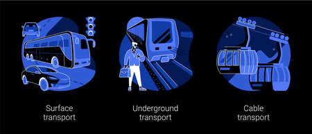 Public transport abstract concept vector illustrations. 向量圖像
