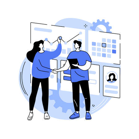 Customer relationship management abstract concept vector illustration.
