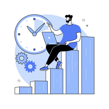 Productivity abstract concept vector illustration. Ilustracja