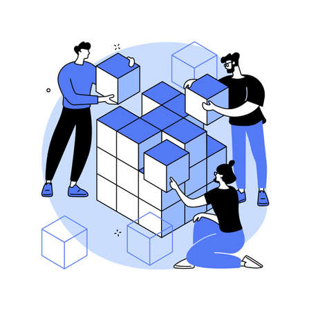 Big data storage abstract concept vector illustration.
