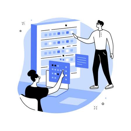 Big data engineering abstract concept vector illustration. Illustration