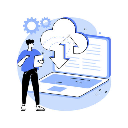 Data entry services abstract concept vector illustration.