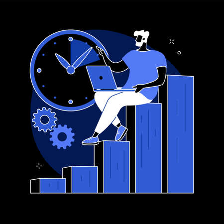 Productivity abstract concept vector illustration. Illustration