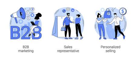B2B marketing abstract concept vector illustrations.
