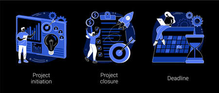 Project lifecycle abstract concept vector illustrations. Illustration