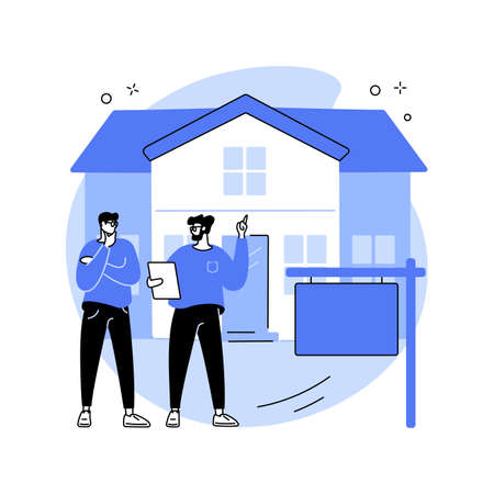 House for rent abstract concept vector illustration. Ilustrace