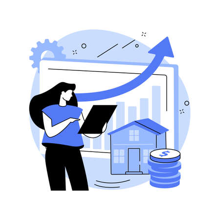 Property market abstract concept vector illustration.